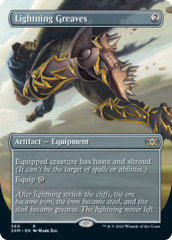 Lightning Greaves - Foil - Borderless