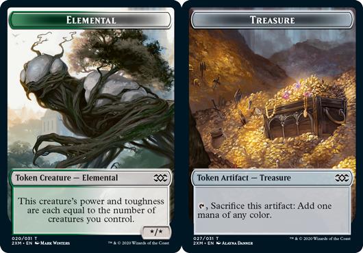 Elemental Token // Treasure Token - Foil