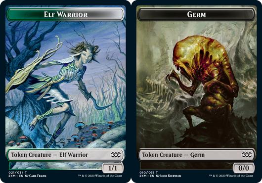 Elf Warrior Token // Germ Token - Foil