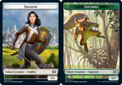 Soldier Token // Squirrel Token - Foil