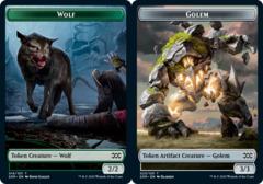 Wolf Token // Golem Token - Foil