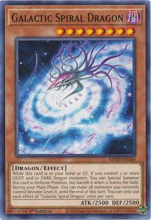 x3 Galactic Spiral Dragon MP20-EN160 Common M//NM 1st Edition Yu-Gi-Oh