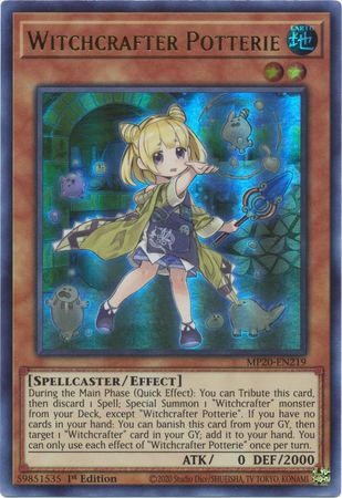 Witchcrafter Potterie - MP20-EN219 - Ultra Rare - 1st Edition