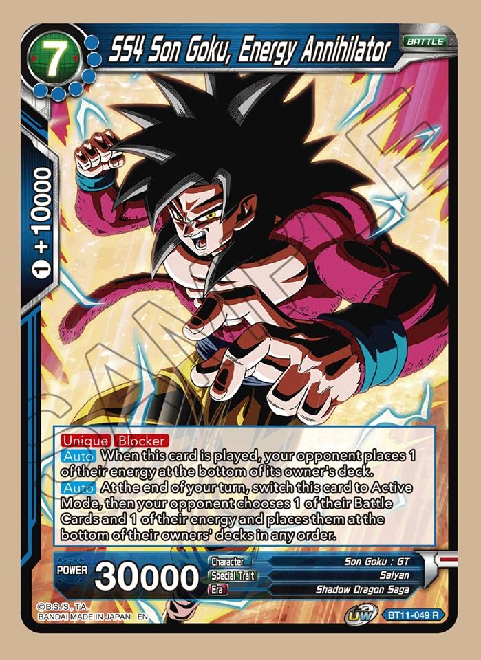 SS4 Son Goku, Energy Annihilator - BT11-049 - R - Foil