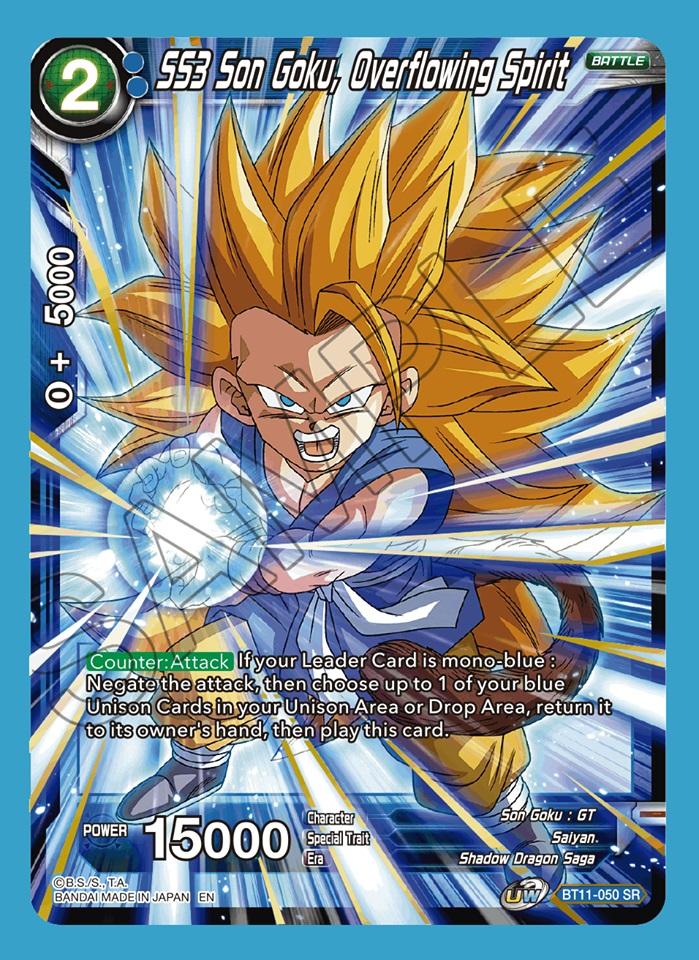 SS3 Son Goku, Overflowing Spirit - BT11-050 - SR