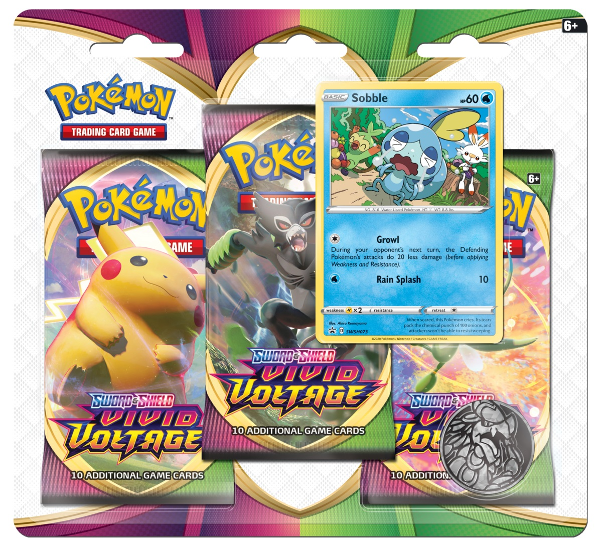 Sword & Shield - Vivid Voltage 3 Pack Blister - Sobble
