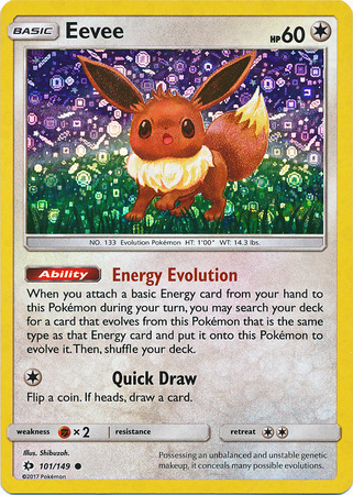 Eevee - 101/149 - Holo - Cereal Promo