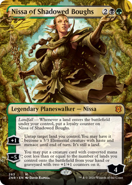 Nissa of Shadowed Boughs - Foil - Borderless