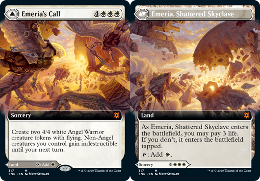 Emerias Call // Emeria, Shattered Skyclave - Foil - Extended Art
