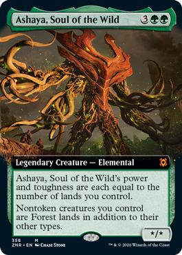 Ashaya, Soul of the Wild - Foil - Extended Art