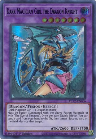 Dark Magician Girl the Dragon Knight  (Alternate Art) - DLCS-EN006 - Ultra Rare - 1st Edition