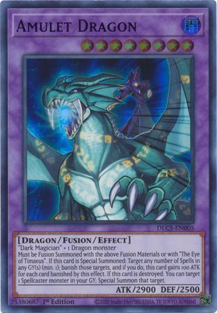 Amulet Dragon (Green) - DLCS-EN005 - Ultra Rare - 1st Edition