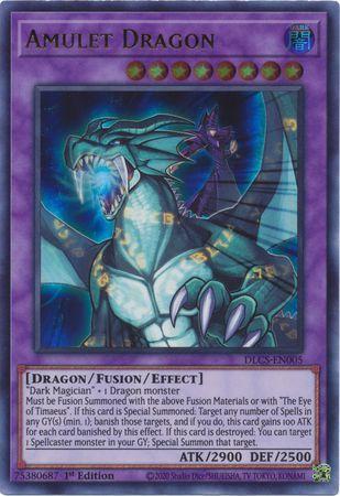 Amulet Dragon (Purple) - DLCS-EN005 - Ultra Rare - 1st Edition