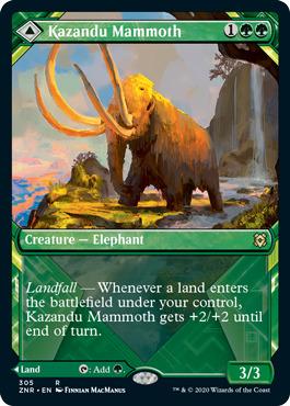 Kazandu Mammoth // Kazandu Valley - Foil - Showcase
