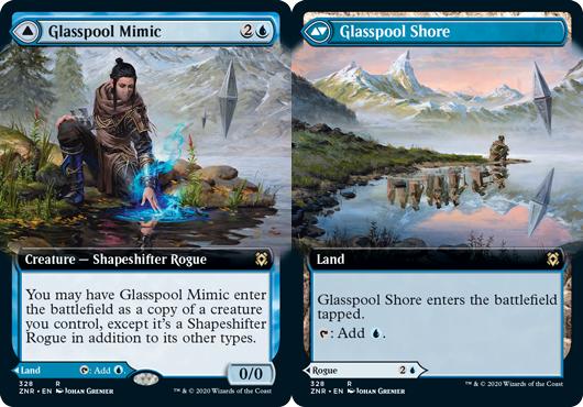 Glasspool Mimic // Glasspool Shore - Extended Art