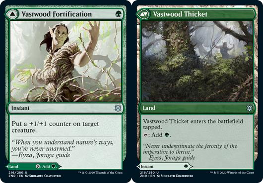 Vastwood Fortification // Vastwood Thicket - Foil