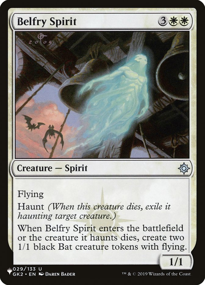 Belfry Spirit - The List