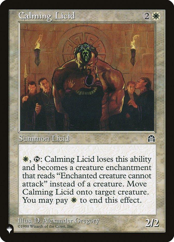 Calming Licid - The List