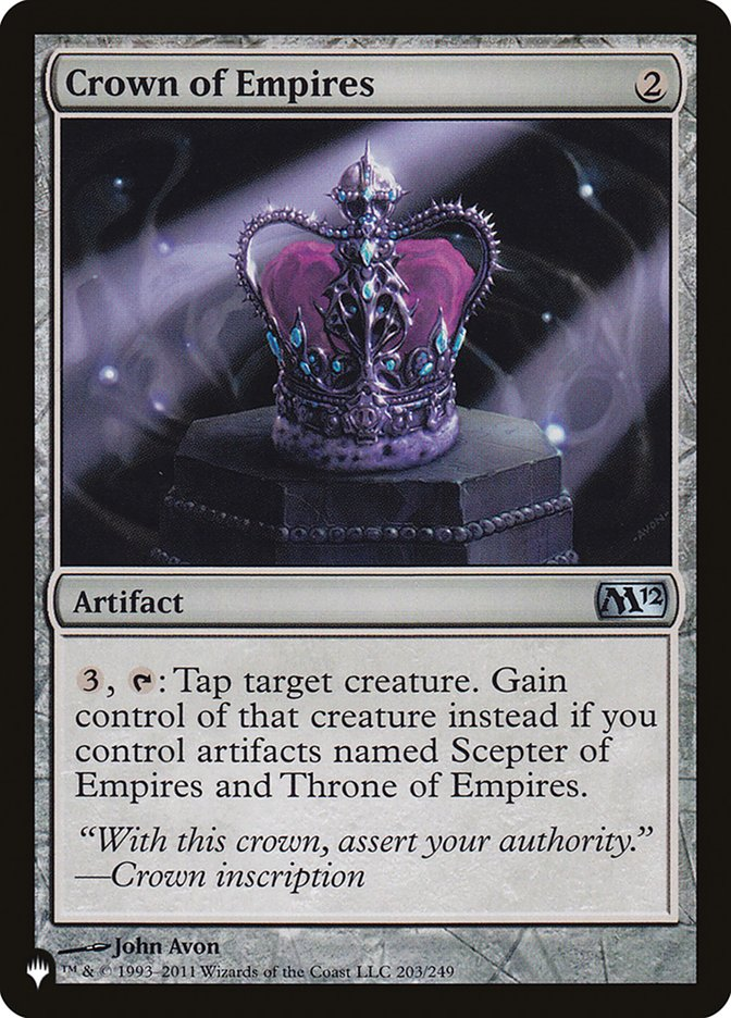 Crown of Empires - The List