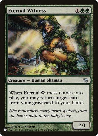 Eternal Witness - The List