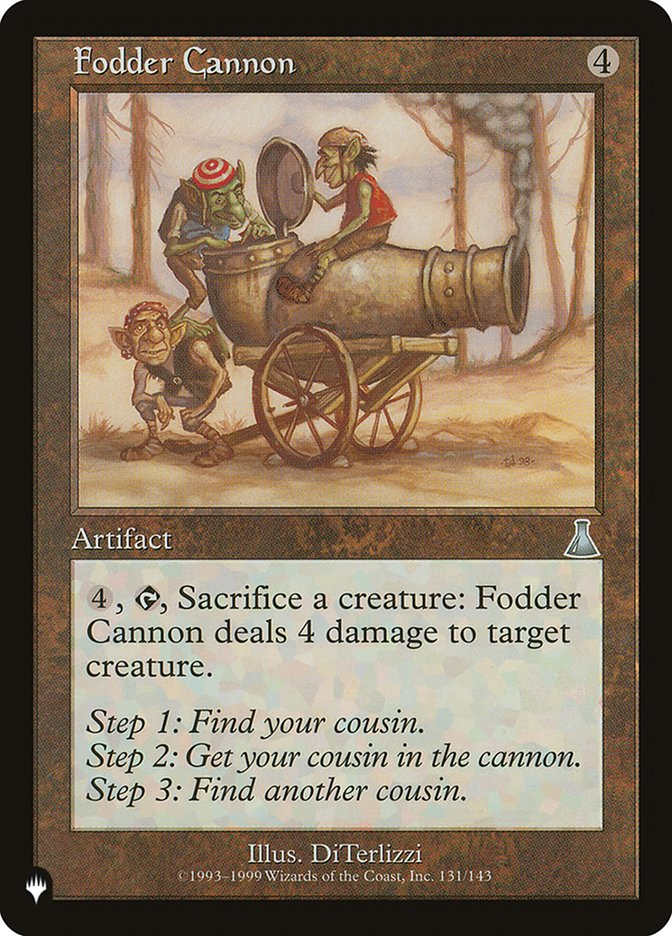 Fodder Cannon - The List