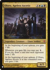 Oloro, Ageless Ascetic - The List