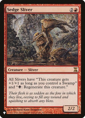 Sedge Sliver - The List