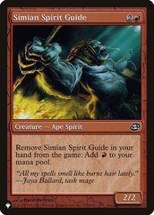 Simian Spirit Guide - The List