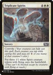 Triplicate Spirits - The List