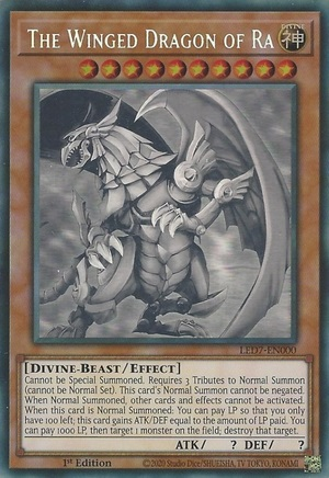 The Winged Dragon of Ra - LED7-EN000 - Ghost Rare - 1st Edition