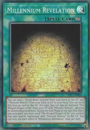 Millennium Revelation - LED7-EN006 - Super Rare - 1st Edition