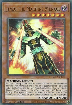 Jinzo the Machine Menace - LED7-EN031 - Ultra Rare - 1st Edition