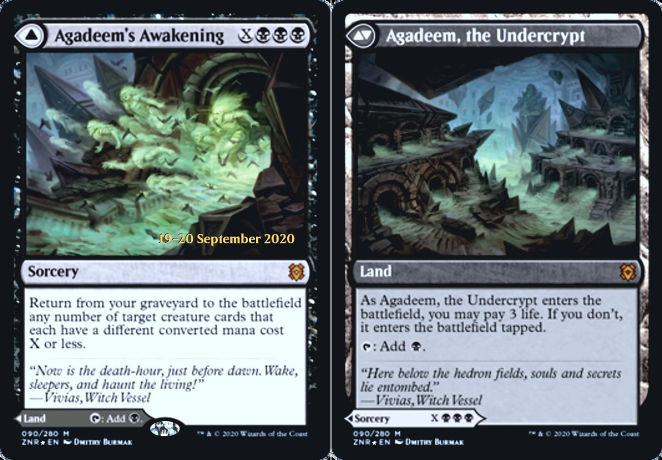 Agadeems Awakening // Agadeem, the Undercrypt - Foil - Prerelease Promo