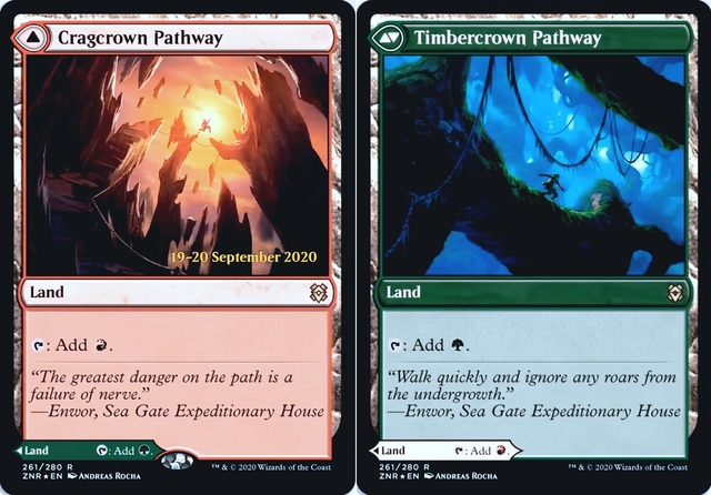 Cragcrown Pathway // Timbercrown Pathway - Foil - Prerelease Promo