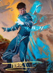 01 Jace, Mirror Mage Art Card - Gold-Stamped Signature