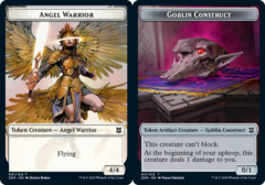 Angel Warrior // Goblin Construct Double-sided Token - Foil