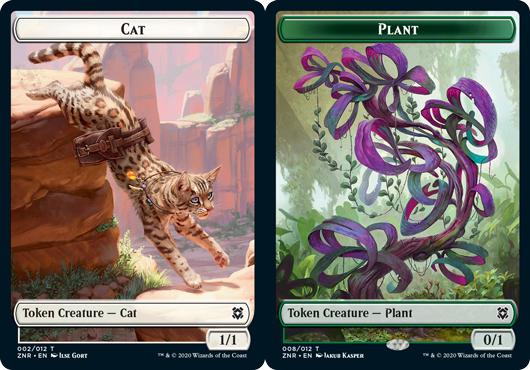 Cat Token // Plant Token - Foil