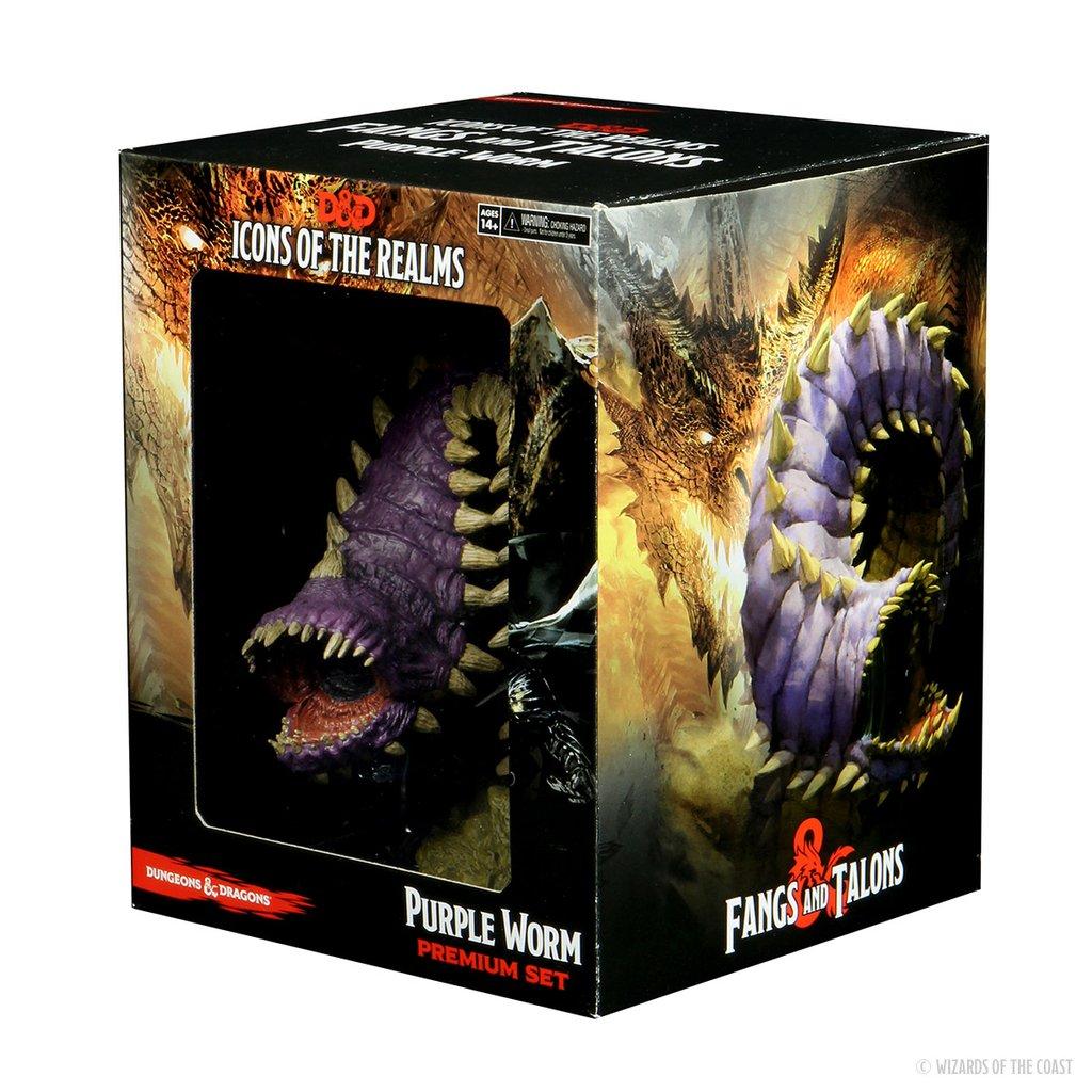 D&D Icons of the Realms: Fangs & Talons - Purple Worm - Premium Set