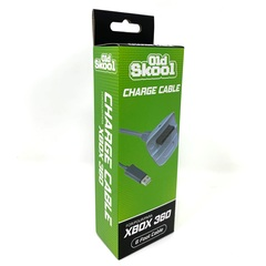Old Skool Wireless Controller Charging Cable for MicroSoft Xbox 360 - White