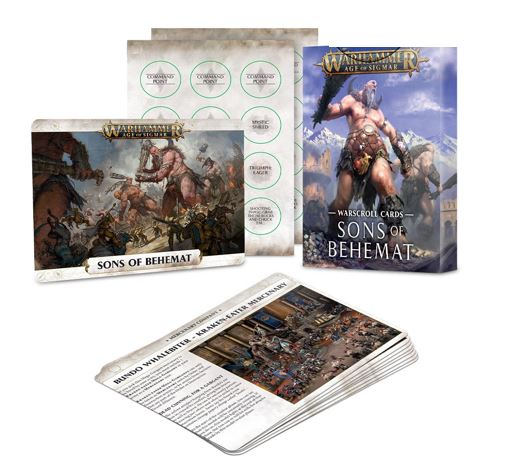 Warscroll Cards: Sons Of Behemat (Eng)