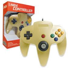 Old Skool N64 Controller Gold