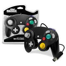 Old Skool GameCube / Wii Compatible Controller - BLACK