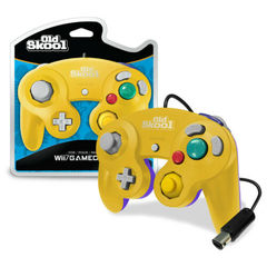 Old Skool GameCube / Wii Compatible Controller - YELLOW/PURPLE