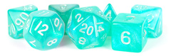 16mm Stardust Acrylic Poly Dice Set: Turquoise