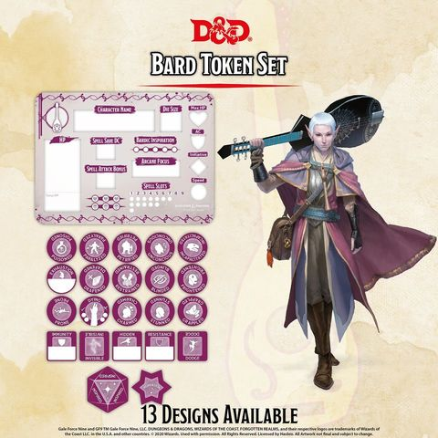 D&D Token Set: Bard