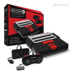 RetroN 2 Gaming Console for SNES/ NES (Black) - Hyperkin