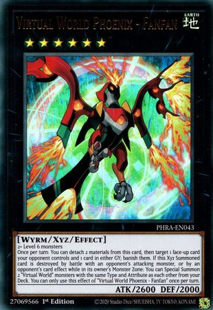 Virtual World Phoenix - Fanfan - PHRA-EN043 - Ultra Rare - 1st Edition