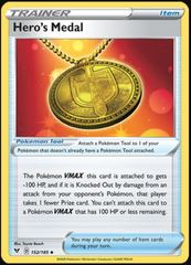 Hero's Medal - 152/185 - Uncommon on Channel Fireball