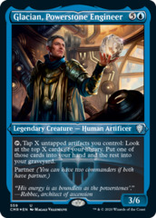 Glacian, Powerstone Engineer - Foil Etched