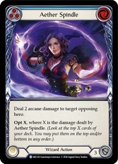 Aether Spindle (Blue) - Rainbow Foil - Unlimited Edition